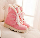 US4-11 sweet womens Warm Winter Over Ankle Boots snow Lace Up shoes