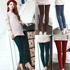 Slim Napped Banboo Cotton Thicken Colorful Stepped Leggings Pant HFUK