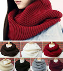 Nice Women Winter Warm Infinity 2 Circles Cable Knit Cowl Neck Long Scarf Shawl