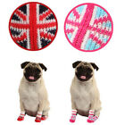 ANY SIZE & COLOR - PUPPIA - UNION JACK - DOG SOCKS - PINK or RED