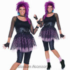 CL84 80s Funky Pop Star Madonna Diva 1980s Fancy Dress Women Costume Outfit