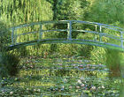 Canvas Wall Art Print Water Lilies Harmony in Green Lily Pond Claude Monet Repro