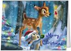 Your Words BAMBI and Thumper Personal Business CUSTOM Christmas CARDS USA