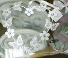 White Heart Metal Hanging Decoration Butterfly Flower