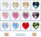 Swarovski Crystal Pendants 6202 & 6228 Heart 14mm  18mm  28mm *Many Colours*