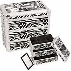 Zebra 3-in-1 Stackable Trays Makeup Cosmetic Upgradable Case Box Dividers E3303