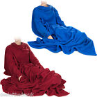 Large Blanket With Sleeves Fleece Snuggle Snuggie Red Blue Mens Ladies