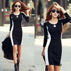 Sexy Ladies Casual Long Sleeve Party Evening Cocktail MINI Dress Size (UK 2-14)