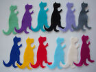 Felt T-Rex Die Cut Shapes - x3 Card Making/Applique/Scrapbook/Dinosaur/Sizzix