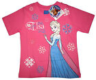 FROZEN ELSA Girls pink cotton summer top t-shirt Size 4,6,8,10 Age 2-5y FreeShip