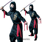 CK144 Black Ninja Kids Boys Karate Halloween Fancy Book Week Costume Outfit