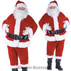 CL145 Complete Santa Verlour Christmas Xmas Clause Suit Mens Fancy Costume