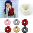 Men Ladies Women Wool Knit Winter Warm Knitted Neck Circle Cowl Snood Scarves