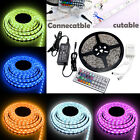 UK FREE 5M SMD 5050 Dimmable RGB REMOTE CONTROL LED Strip Light + Remote + Tape