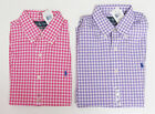 Polo Ralph Lauren Mens Gingham Custom Fit Button Long Sleeve Pony Logo Shirt New