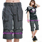 PUNK VISUAL KEI SLIM 71288 3/4CLASSIC GRAY PANTS size S-XL