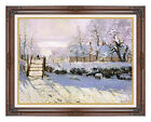 Framed The Magpie Snow Effect by Claude Monet Painting Reproduction Art Print