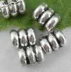 wholesale 100/330Pcs Silver Plated Spacer Beads 5x4mm (Lead-Free)