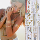 New Metal Tattoos Metallic Gold & Silver Temporary Jewelry Inspired Flash Tattoo
