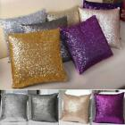 Glitter Sequins Cushion Cover Throw Pillow Case Cafe Home Decor Solid Colors Z