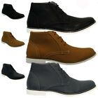 MENS NUBUCK LACE UP CASUAL FORMAL ANKLE DESERT CHELSEA BOOTS TRAINERS SHOES SIZE