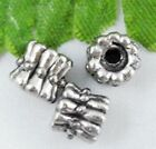 wholesale 46/154Pcs Silver Plated Spacer Beads 6x6mm (Lead-Free)