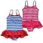 Girl Kid Striped One-piece Tutu Swimwear Swimsuit Swiming costume SZ 3-8 Years