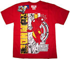AVENGERS ASSEMBLE IRON MAN boys cotton t-shirt Sz 6,8,10,12 Age 4-8 yr Free Ship