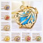 H126 Heart Gold Cage Harmony Pendant Chime Ball Pregnancy Necklace Angel Caller