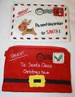 christmas felt letter pouch with zip santa father christmas reindeer kids childs
