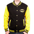 Official DC Comics Batman Classic Logo Letterman Varsity Jacket - Dark Knight
