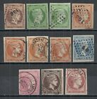 Greece stamps collection of 11 HERMES HEADS  large margins  CANC  VF