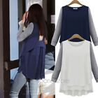 NEW Ladies Women Long Sleeve Chiffon Peplum Loose Casual Tee Tops T-Shirt Blouse