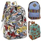 Vtg Style Canvas Backpack Aztec/Floral/Comic Strip Bag Men/Women School Rucksack