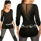 Women's Button Tab Sweater with Back Lace - One Size S/M/L