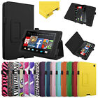 For NEW 2014 Amazon Kindle Fire HD 6 Tablet Folio Leather Case Cover Stand