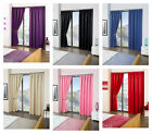 """Cali ECO Thermal Blackout Tape Top Curtains 45"""" Width x 90"""" Drop"""