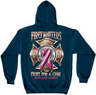 Firefighter Fight for a Cure for Breast Cancer Pink Ribbon Hooded Sweatshirt