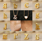 Personalized Gold Letter With Heart Pendant Necklace Jewelry Women Girl Gift