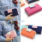 Women Leather Wallet candy color Clutch Case Lady Long Handbag Zip Button Purse