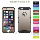 For iPhone 6 Plus 5.5 Champagne Gold Hard&Rubber Hybrid Rugged Impact Case Cover