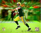 Aaron Rodgers Green Bay Packers 2014 NFL Motion Blast Photo RL222 (Select Size)