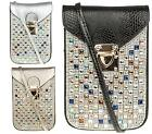 UNISEX MOBILE PHONE POUCH MINI CROSS BODY BAG FAUX SNAKE LEATHER PURSE HANDBAG