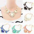 Fashion Crystal Bubble Bib Choker Chunky Statement Pendant Chain Necklace Hot