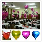 Fun Cute Heart Shaped Foil Colors Balloon Birthday Party Decor Wedding Supply CB