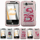 For HTC Wildfire CDMA 6225 Colorful Bling Hard Case Snap On Cover Accessory