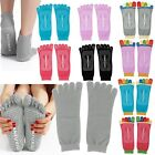 Fives Toes Lady Yoga Socks Non Slip Excise Massage Sports Socks with Glue Dots