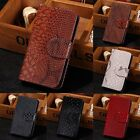 For iPhone Samsung Snake Effect Leather Luxury Flip Card Wallet Case Cover Pouch