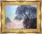 Framed Canvas Art Antibes Vue de la Salis by Claude Monet Painting Reproduction