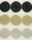 """2.0"""" Rayon Embroidery Lace Trim / Round circle lace Flower applique by the yard"""
